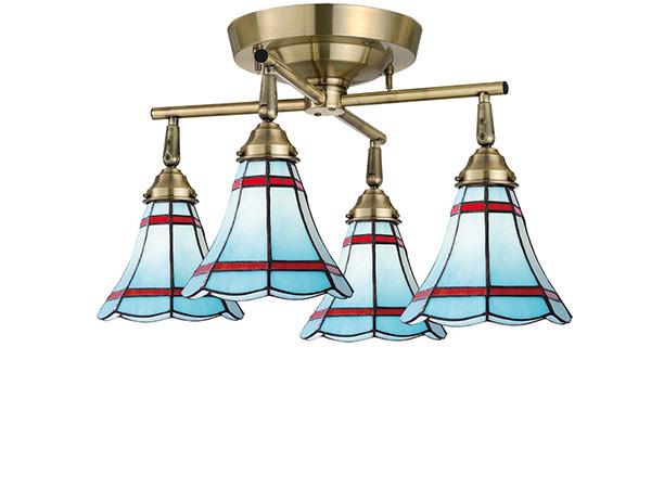 CUSTOM SERIES 4 Cross Ceiling Lamp × Stained Glass Maribu