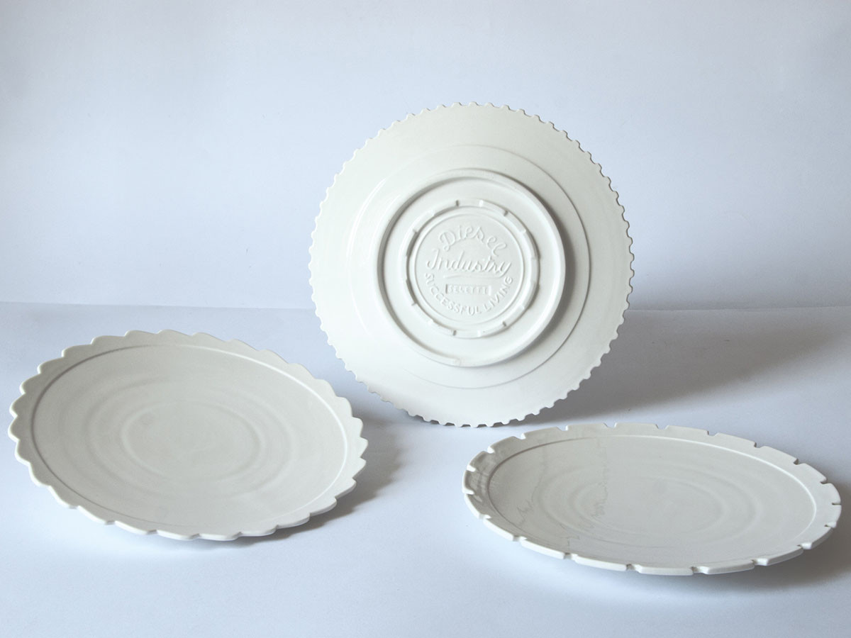 MACHINE COLLECTION Dinner Plate Set 3 Assorted
