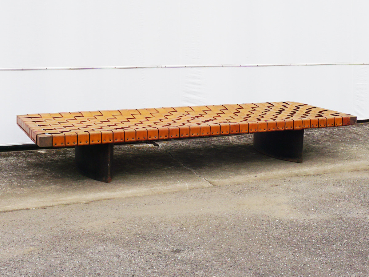 RE : Store Fixture UNITED ARROWS LTD. Braided Leather Bench