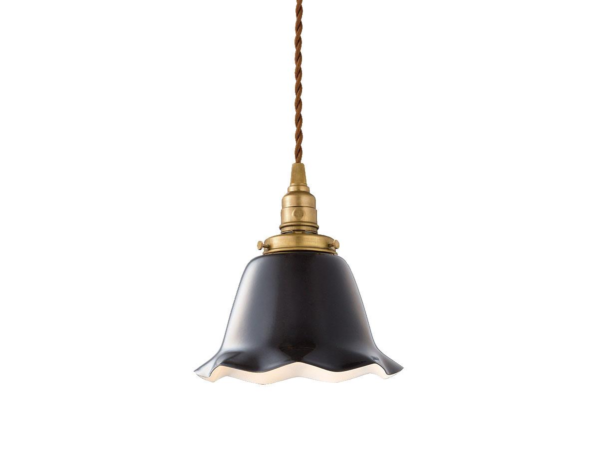 CUSTOM SERIES Brass Pendant Light × Mini Wave Enamel